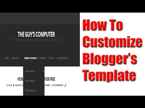 how to customize blogger template (Blogging 2016) - YouTube