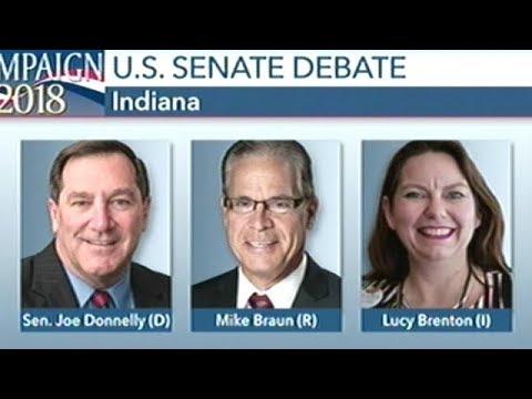 MUST SEE! LUCY BRENTON vs JOE DONNELLY vs MIKE BRAUN Indiana Senate Debate