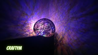 Gorgeous DIY Yarn Balls! | How to make decorative light using yarn? | CrafTym
