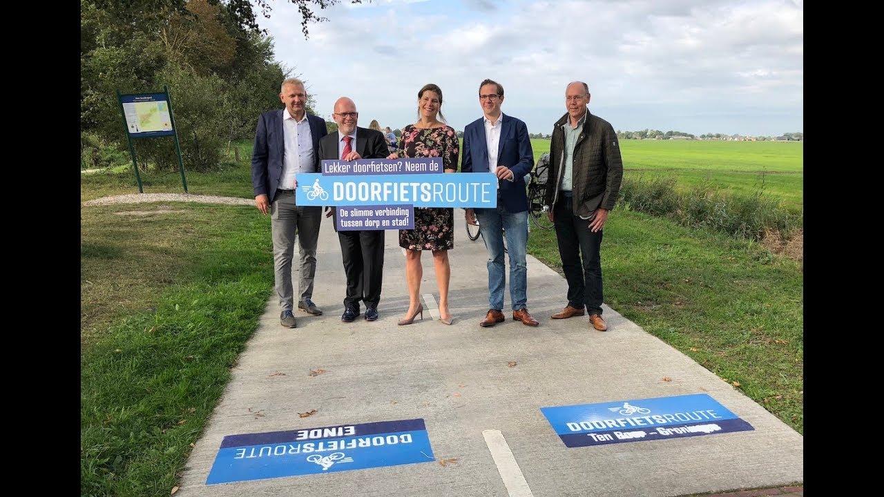 Flink doortrappen op nieuwe doorfietsroute tussen Ten Boer en Groningen