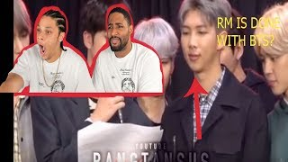 RM is done ? Namjoon Being done with BTS [Reaction]