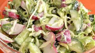 Овощной салат рецепт простой