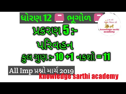 Std 12 bhugol chapter 5 imp| std 12 geography imp question march 2019|  knowledge sarthi academy by knowledge sarthi academy