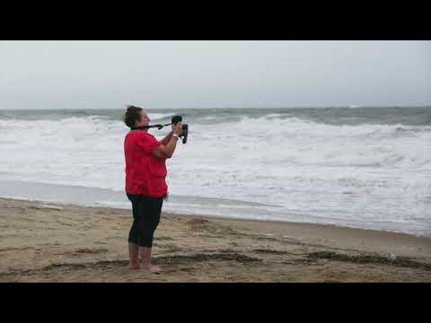 Vistors Check Out Hurricane Florence At The Virginia Beach Oceanfront