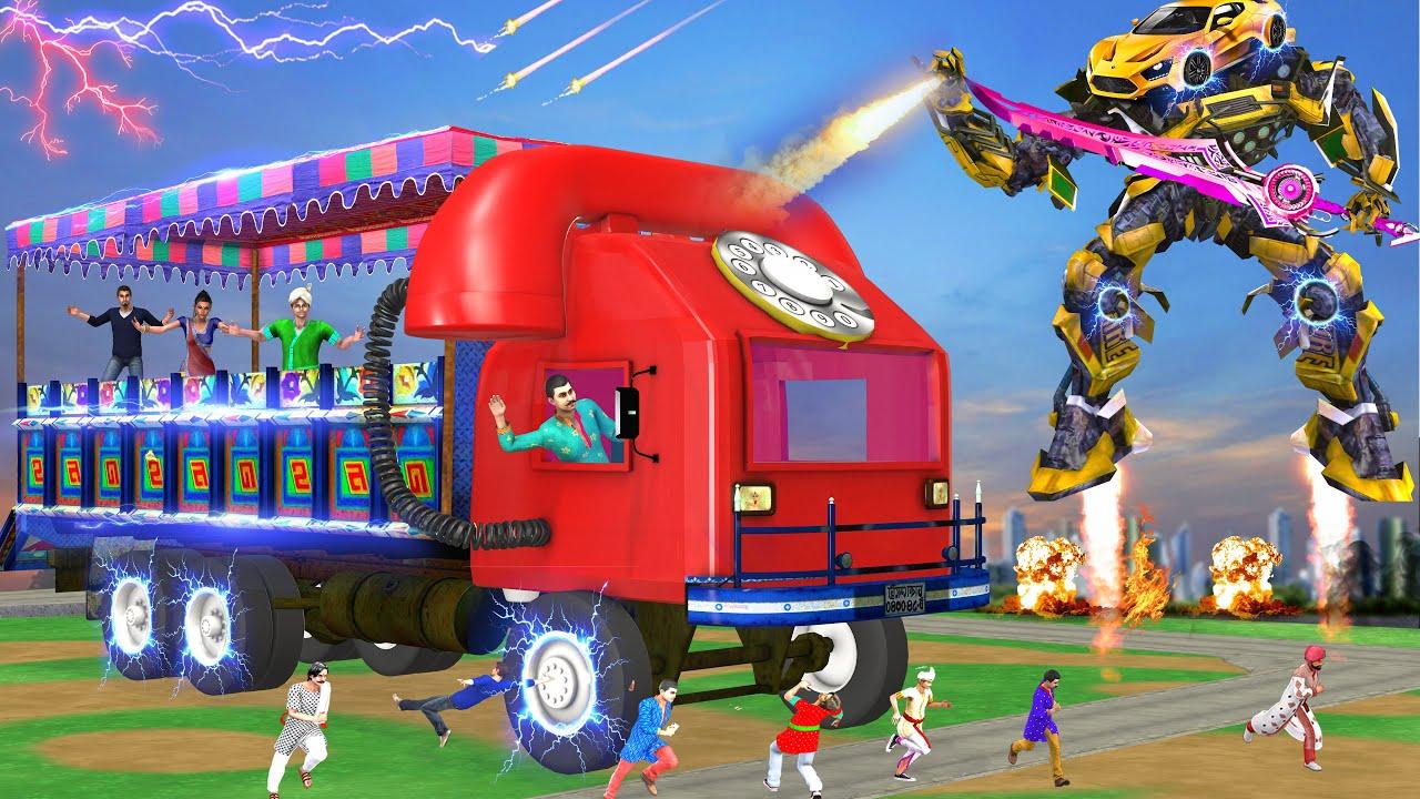 विशाल फोन ट्रक सुपर खिलौना कार Giant Phone Truck Super Car Comedy Video हिदी कहानिय Hindi Kahaniya