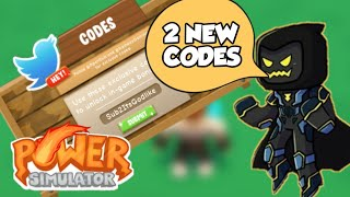 2 NEW CODES FOR POWER SIMULATOR|| VILLAIN UPDATE(ROBLOX)