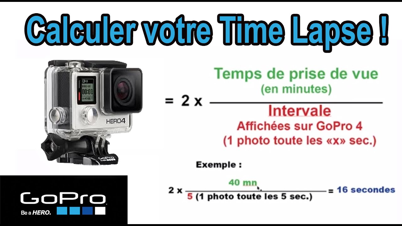 astuce n 11 comment choisir le bon r glage pour un time lapse sur gopro hero 4 silver youtube. Black Bedroom Furniture Sets. Home Design Ideas