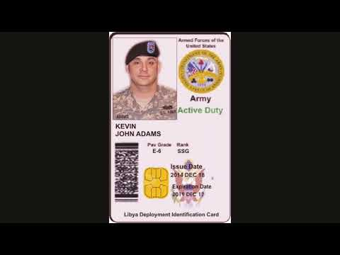 Fake Military Id And Leave Documents Used By Scammers