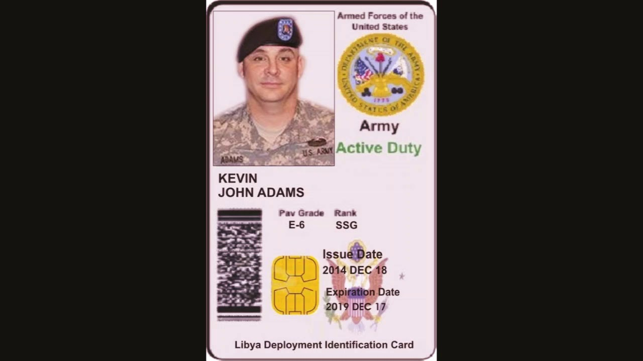 How to make fake us army id card