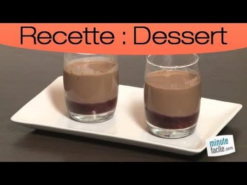 Recette :  Panna cotta chocolat aux fruits rouges