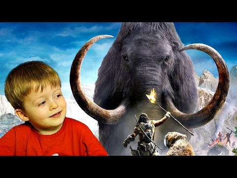 Детям про животных  МАМОНТ Животные для Детей Слоны для Детей Мамонтенок  Видео для детей Lion Boy