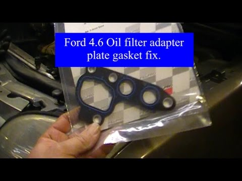 Ford Mountaineer Explorer Oil Filter Adapter Plate Gasket Replace