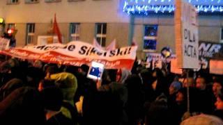 Gdynia, 25.01.2012. Protest przeciwko ACTA. (2)