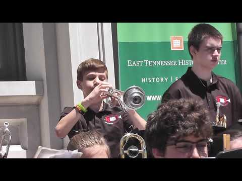 Knoxville middle school jazz band: April 2019