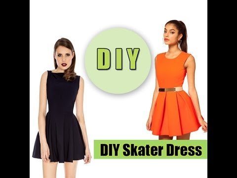 6d5637f098 How to make a Skater Dress (easy) - YouTube