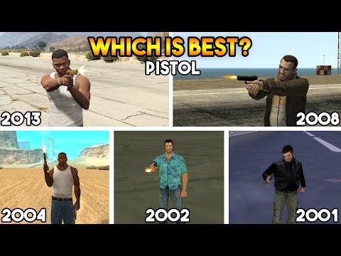 GTA : EVOLUTION OF PISTOL IN EVERY GTA (GTA 5, GTA 4, GTA SAN, GTA VC, GTA 3)