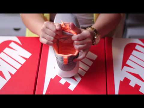 Basket Nike Roshe Run Gris Noir Orange Fluo 511881 080 - wwwik.fr