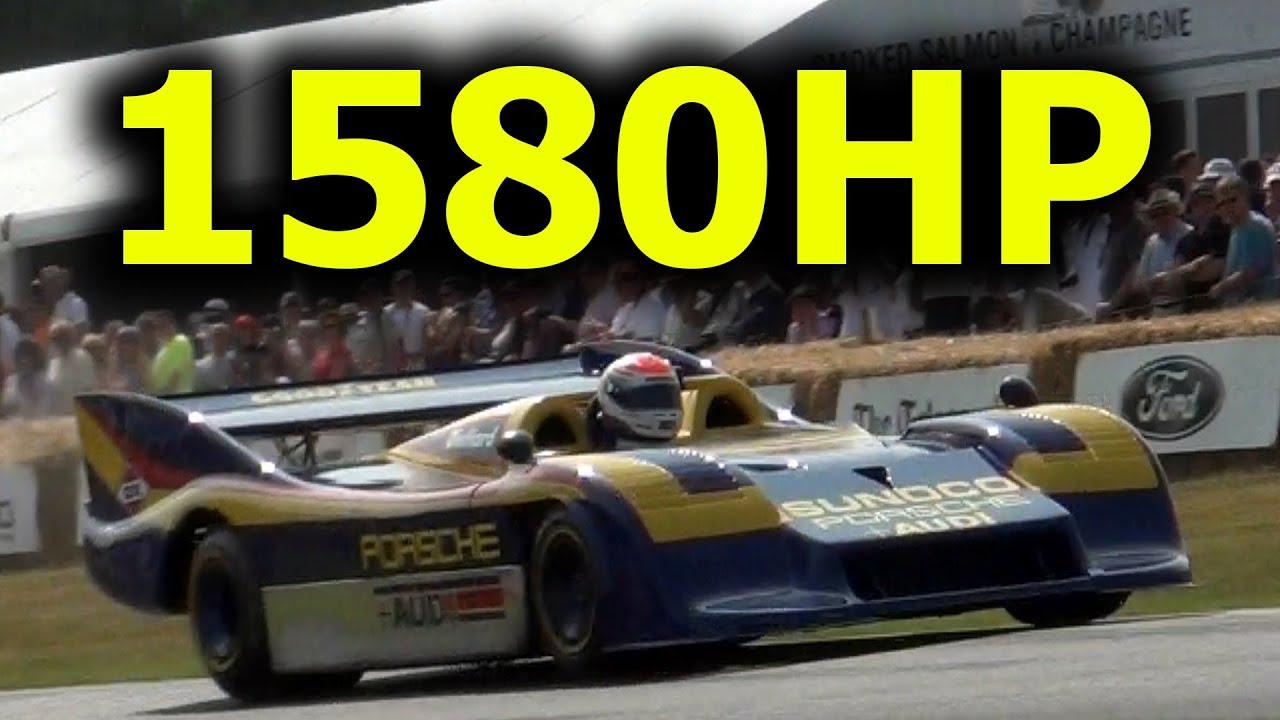 Can Am Car >> 1,580HP Porsche 917/30 Sound - YouTube