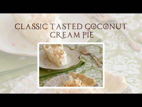 Ceylon Pure Recipes - Classic Toasted Coconut Cream Pie