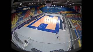 Hockey to Basketball transformation time-lapse at Arena Sever Krasnoyarsk