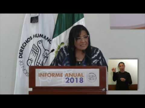 Discurso de la Presidenta de este Organismo, Nashieli Ramírez, durante el Informe Anual 2018