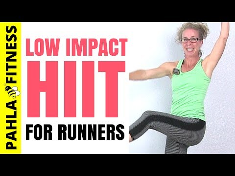 LOW IMPACT Cross Training HIIT for RUNNERS   35 Minute Quiet CARDIO Home Workout without Jumping