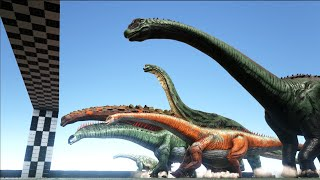 Which one is ARK'S FASTEST Sauropod & Theropod Dinosaur?   NEW ARK RACES