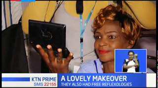 Cancer patients at KNH receives a rare treat from Diana Aketch  who gave them free make ups and wigs
