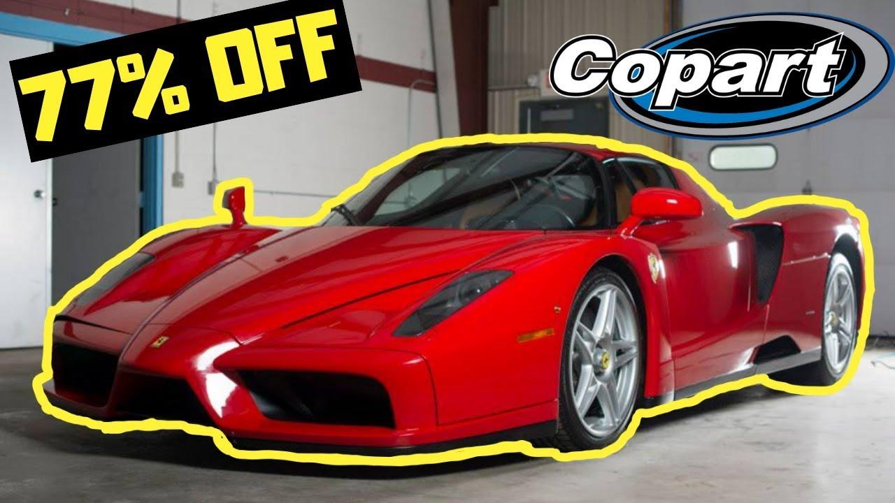 Craziest Salvage Auction Finds Ever! Ferrari Enzo, Carrera GT, 918 Spyder