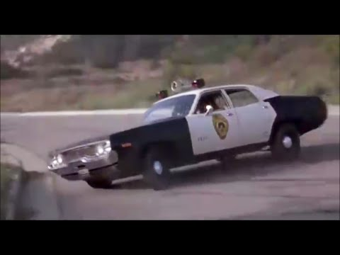 Car chase in The Thing with Two Heads
