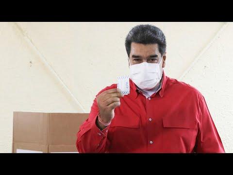 Presidente Maduro vota en elecciones primarias y da declaraciones, 8 de agosto de 2021