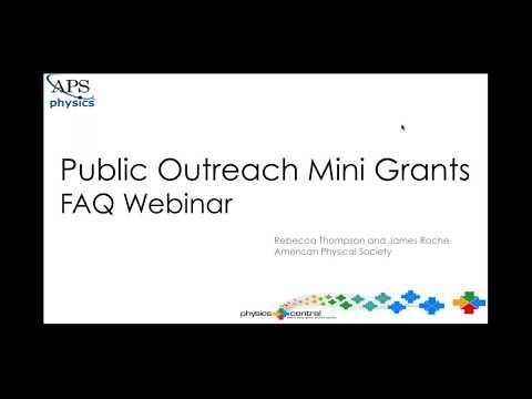 2018 APS Outreach Mini Grants