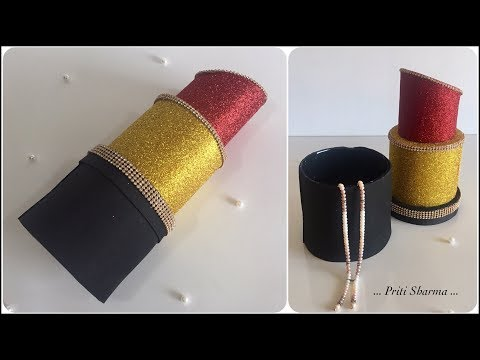 DIY : Lipstick Giant Gift Box / Best Out Of Waste Plastic Bottle Lipstick Showpiece | Priti Sharma
