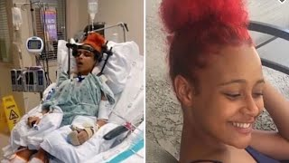 A 17-year-old houston girl remains in hospital with serious injuries after horrific accident earlier this month.