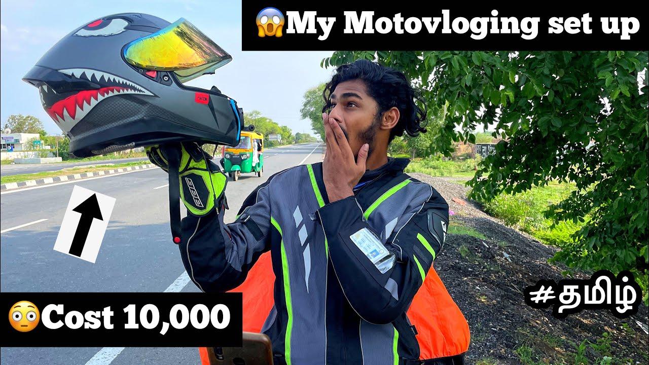 😳Cost10,000 |😱My Motovloging set up | Tamil | Motovlog | Gopro | Mic setup | helmet tour |
