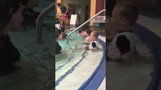 Swim lessons with Luca