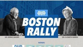 Bernie Sanders and Elizabeth Warren LIVE Boston MA 3-31-17