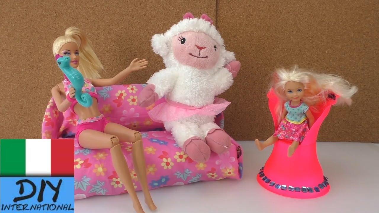 Mobili Per Casa Delle Bambole Fai Da Te : Diy come costruire mobili u divano per le bambole tutorial fai