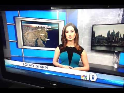 NBC 10 - Weather girl saying the wrong time