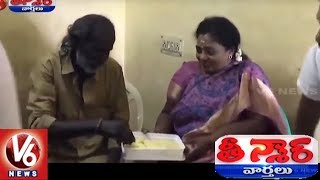 TN BJP Chief Visits Auto Driver Who Was Assaulted By BJP Worker   Teenmaar News   V6 News