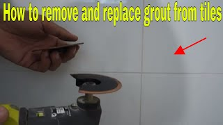 How to remove aฑd replace grout from tiles - The easy way