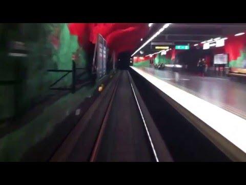 Tunnelbanan Blå Linjen /  Stockholm Subway Blue Line:  Rissnehallen - Kungsträdgården