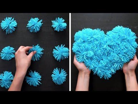 Как сделать поделки из ниток своими руками видео