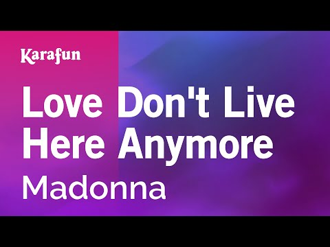 Karaoke Love Don't Live Here Anymore - Madonna *