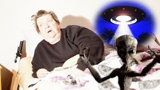 ALIEN ABDUCTION PRANK ON GRANDMA!