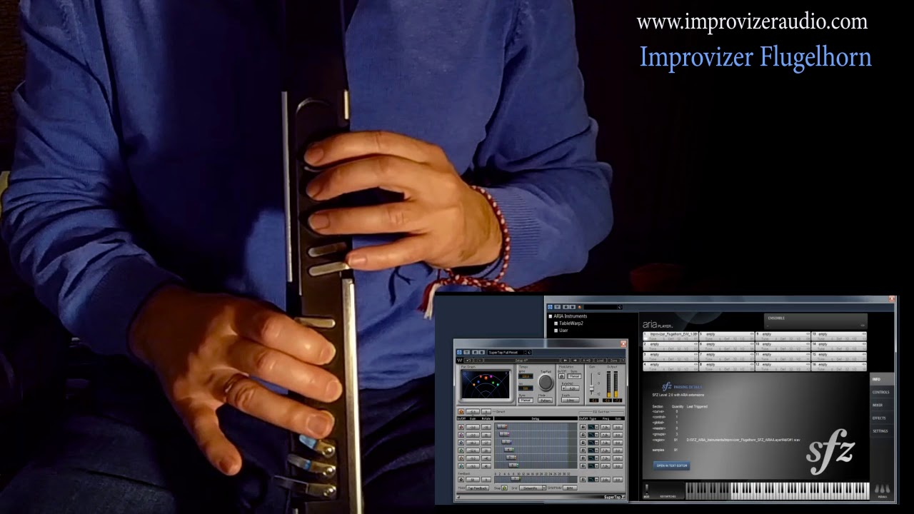 Soundfont Flugelhorn & AKAI EWI4000s & free ARIA Player  Trumpet