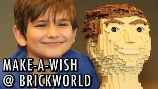 Brickworld welcomes Make-A-Wish recipient