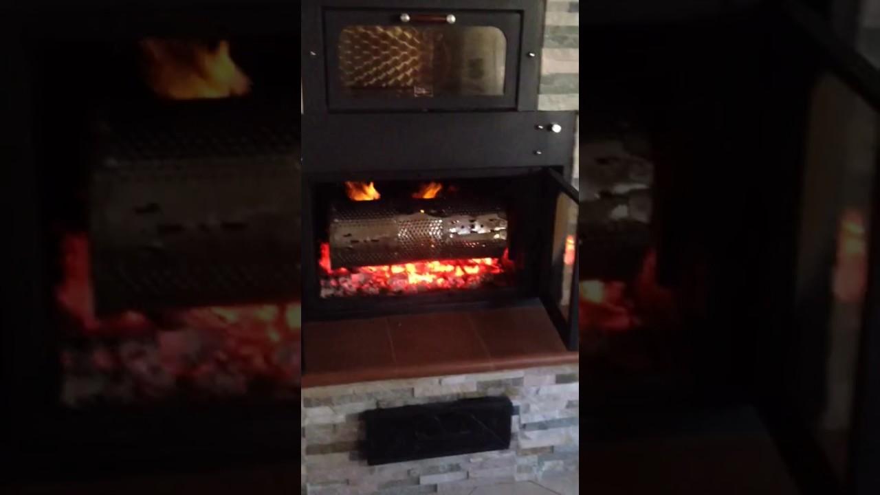 Castagne in cottura nel termocamino genius youtube for Ftl termocamini