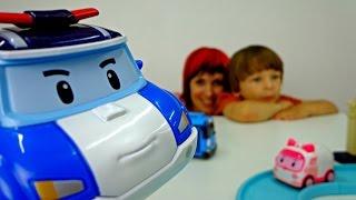 Робокар Поли и Тайо - Трасса. Видео для детей. Распаковка. Игры для детей
