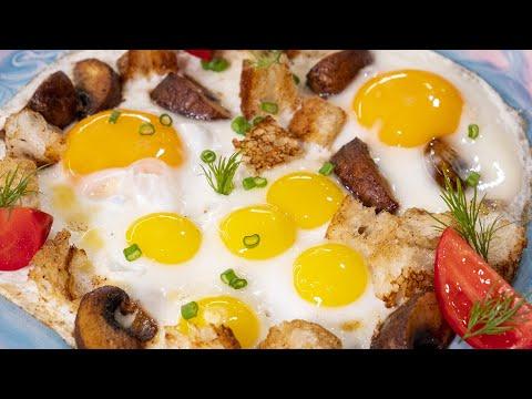 Видео: Мой самый обычный завтрак. Просто яичница с маленькими нюансами.